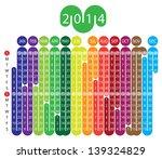 vector calendar for 2014 year... | Shutterstock .eps vector #139324829