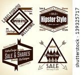 creative vintage hipster flat... | Shutterstock .eps vector #139325717