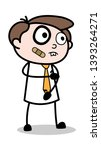 funny injured face   office...   Shutterstock .eps vector #1393264271