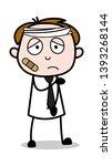 injured face   office salesman... | Shutterstock .eps vector #1393268144
