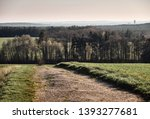 a long and stony path  an old... | Shutterstock . vector #1393277681
