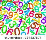 background of numbers. from... | Shutterstock . vector #139327877