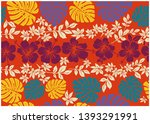 Hibiscus And Monstera Pattern...