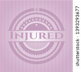 injured retro pink emblem....   Shutterstock .eps vector #1393293677
