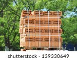 Stack Of Orange Clay Brick On...