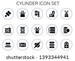cylinder icon set. 15 filled... | Shutterstock .eps vector #1393344941