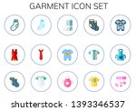 garment icon set. 15 flat... | Shutterstock .eps vector #1393346537
