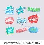 expressive sayings flat vector... | Shutterstock .eps vector #1393362887