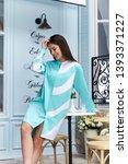 beautiful sexy woman wear... | Shutterstock . vector #1393371227
