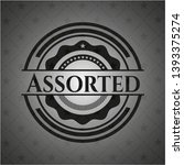 assorted realistic black emblem.... | Shutterstock .eps vector #1393375274