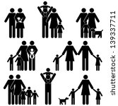 family with kids icon set | Shutterstock .eps vector #139337711