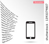 phone icon vector illustration .... | Shutterstock .eps vector #1393379807
