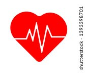 heart with beat monitor pulse... | Shutterstock .eps vector #1393398701