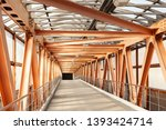 orange metal construction of... | Shutterstock . vector #1393424714