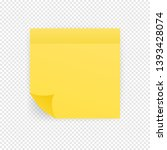 sticky colored notes. post note ... | Shutterstock .eps vector #1393428074