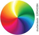 Abstract Rainbow Circle On...