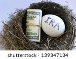 Nest With Money And Egg With...