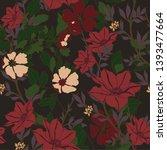 beautiful seamless floral... | Shutterstock .eps vector #1393477664