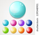 set of shiny round buttons ... | Shutterstock . vector #139348901