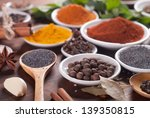 various spices selection. | Shutterstock . vector #139350815