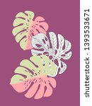 vector tropical pattern with... | Shutterstock .eps vector #1393533671