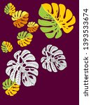 vector tropical pattern with... | Shutterstock .eps vector #1393533674