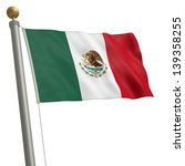 the flag of mexico fluttering... | Shutterstock . vector #139358255