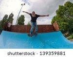 skateboarder doing a skateboard ... | Shutterstock . vector #139359881