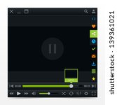 black media player ui interface ...