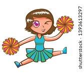 cheerleader vector cartoon... | Shutterstock .eps vector #1393613297