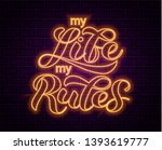 my life my rules brush...   Shutterstock .eps vector #1393619777