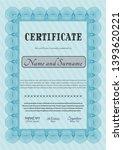 light blue awesome certificate... | Shutterstock .eps vector #1393620221
