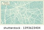 perpignan france city map in... | Shutterstock . vector #1393623404