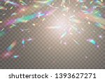 holographic falling confetti... | Shutterstock .eps vector #1393627271