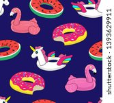 seamless pattern with pink... | Shutterstock .eps vector #1393629911
