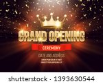 grand opening banner with crown ... | Shutterstock .eps vector #1393630544