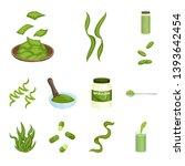 vector design of spirulina and...   Shutterstock .eps vector #1393642454