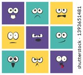 cute emoji with different... | Shutterstock .eps vector #1393651481