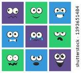 emoji with different emotive... | Shutterstock .eps vector #1393651484