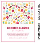 cooking classes banner template ... | Shutterstock .eps vector #1393651487