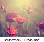 vintage poppy | Shutterstock . vector #139366055