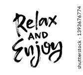 summer brush lettering... | Shutterstock .eps vector #1393676774
