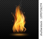 fire flame. campfire in... | Shutterstock .eps vector #1393726274