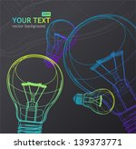 vector light bulb background | Shutterstock .eps vector #139373771