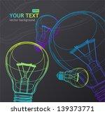 vector light bulb background   Shutterstock .eps vector #139373771