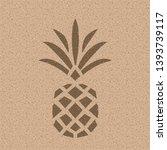 pineapple on nature paper.... | Shutterstock .eps vector #1393739117