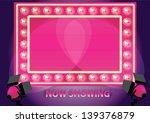 showtime retro neon board board ...   Shutterstock .eps vector #139376879
