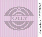 jolly realistic pink emblem....   Shutterstock .eps vector #1393770767
