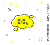 grey co2 emissions in cloud... | Shutterstock .eps vector #1393777007
