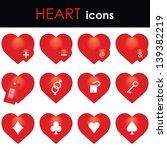 hearts icon | Shutterstock . vector #139382219